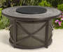 "Canyon 43"" Round Fire Pit Table with Lazy Susan"