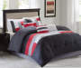Living Colors Canyon Red & Gray Comforter Sets