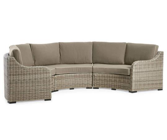 Weather Wicker Patio Sectional Sofa