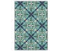 Capri Blue and Green Indoor Outdoor Area Rug 3 feet 7 inch x 5 feet 6 inch silo front