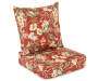 Capulet Red Floral Deep Seat and Back Set Silo Image Angled View