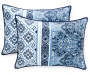 Caribbean Navy and White King 5 Piece Quilt Set silo front