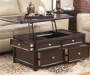 Carlyle Brown Lift Top Coffee Table lifestyle