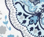 Caroline Blue and Gray Medallion Fabric Shower Curtain 72 Inches Swatch Silo Image