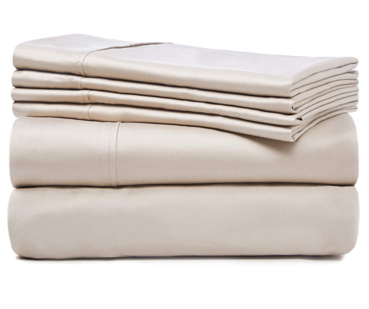 Cashmere Tan 920 Thread Count Queen 6 Piece Sheet Set silo front