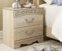 Catalina Antique White 2 Drawer Nightstand lifestyle
