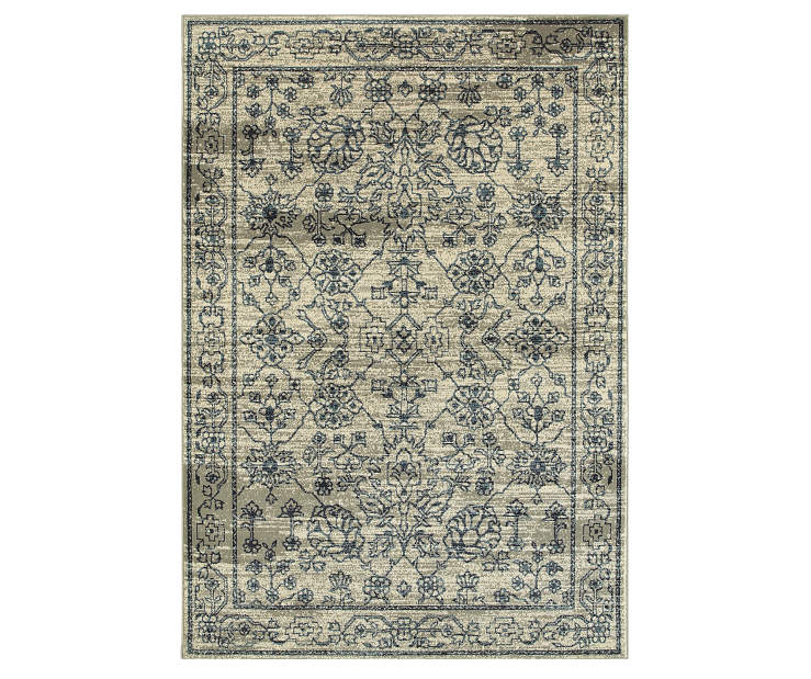 Cathedral Beige Area Rug 5FT3IN x 7FT6IN Silo Image