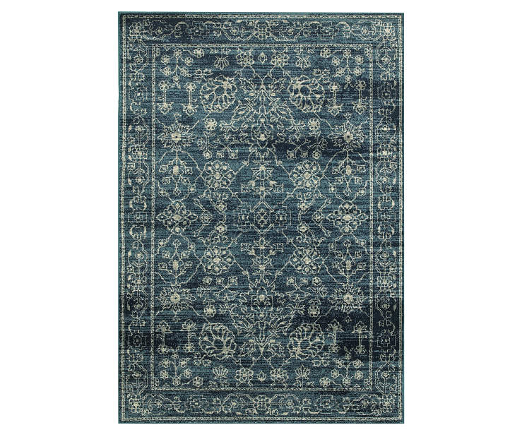 Cathedral Navy Area Rug 5FT3IN x 7FT6IN Silo Image