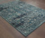 Cathedral Navy Area Rug 6FT7IN x 9FT6IN Silo Image On Wood Floor