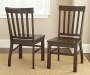 Cayla Dark Oak Dining Chairs 2 Pack Lifestyle