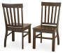 Cayla Dark Oak Dining Chairs 2 Pack Silo Both Chairs