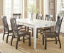 Cayla Dark Oak Dining Chairs with Dining Table Lifestyle