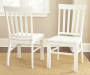 Cayla White Dining Chairs 2 Pack Lifestyle