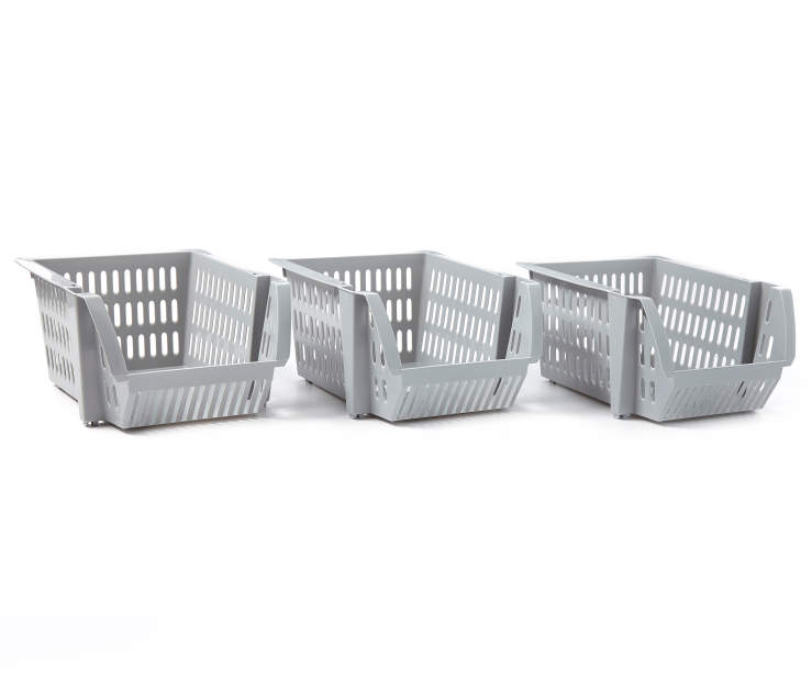 Cement Mini Stacking Bins 3 Pack silo angled