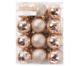 Champagne Gold Ball Shatterproof Ornaments  24 Pack silo front package