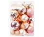 Champagne Gold and Pink Shatterproof Ornaments 50 Count silo front package