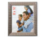 Champagne Ridged Picture Frame 8 Inches by 10 Inches with Photo Overhead View Silo Image