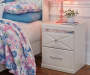 Champagne White Dreamur Nightstand Lifestyle