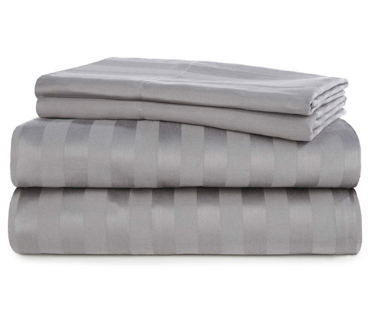 Charcoal 320 Thread Count 4-Piece King Sheet Set Silo Stack