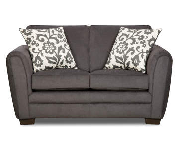 Simmons Flannel Charcoal Loveseat | Big Lots