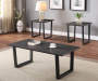Charcoal Gray Wood and Metal Rectangular Occasional Tables 3 Piece Set Lifestyle image