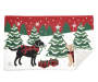 Chenille Holiday Dogs Indoor Rug Silo Image Corner Fold