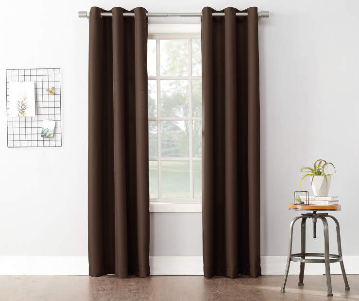 Chocolate Montego Curtain Panel 84 Inches on Window Room Environment Lifestyle Image