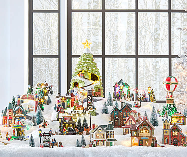Big Lots Christmas.Christmas Holiday Village Big Lots