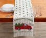 Christmas Truck and Tree Table Runner 13 inch x 72 inch lifestyle