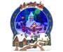 Christmas Village Animated Snowy Church Scene silo front