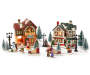 Christmas Village Craft Shop and Home 22 Piece Set silo front