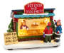 Christmas Village Hot Cocoa and Doughnut Shop Battery Operated Light Up Decor silo front