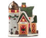 Christmas Village Light Up Barn Decor silo front