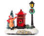 Christmas Village Post Box and Lamp Post Scene Battery Operated Ligh Up Decor silo front