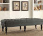 Claire Charcoal Padded French Country Bench lifestyle