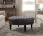 Claire Charcoal Round French Country Ottoman lifestyle