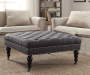 Claire Charcoal Square French Country Ottoman lifestyle