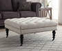 Claire Cream Square French Country Ottoman lifestyle