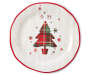Classic Plaid Red Tree Round Melamine Serving Platter silo front