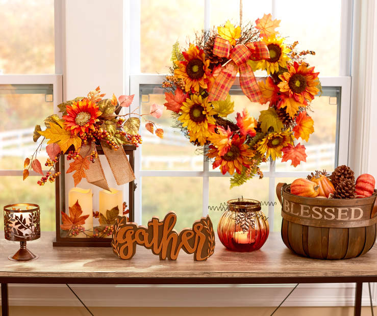 Classic Sunflowers Amp Leaves Fall D 233 Cor Big Lots