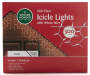 Clear Icicle Light Set 300-Count Silo front Image In Package