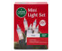 Clear Mini Light Set with Green Wire 350 Count silo front package