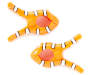 Clown Fish Beach Towel Clips, 2-Pack Silo Image Overhead Shot