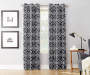 Coal Gray Vivaladi Montego Curtain Panel 84 Inches On Window Room Environment Lifestyle Image