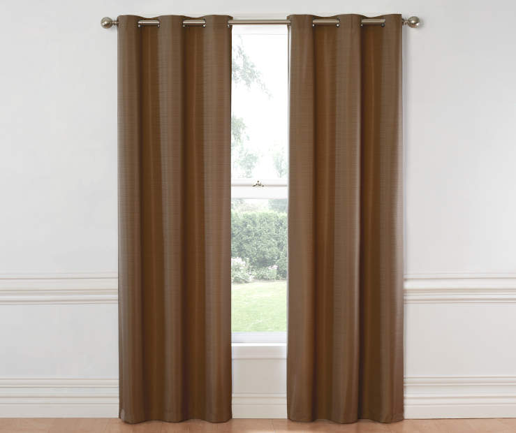 Cocoa Hampton Curtain Panel 84 Inches on Window Room View