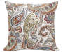 Cocobelle Paisley Throw Pillow 18 inch x 18 inch silo front