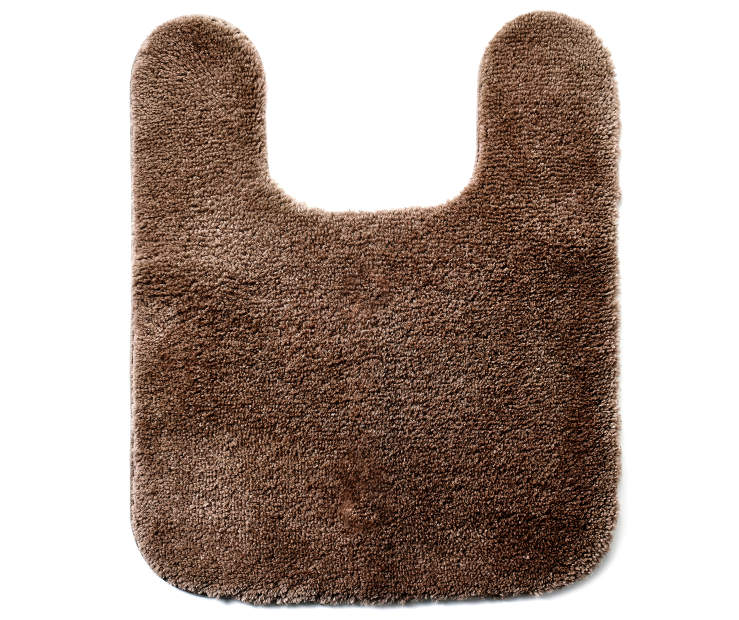 Coffee Bean Contour Bath Rug silo front