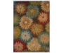 Collins Charcoal Area Rug 3 Feet 10 Inches by 5 Feet 5 Inches Overhead View Silo Image