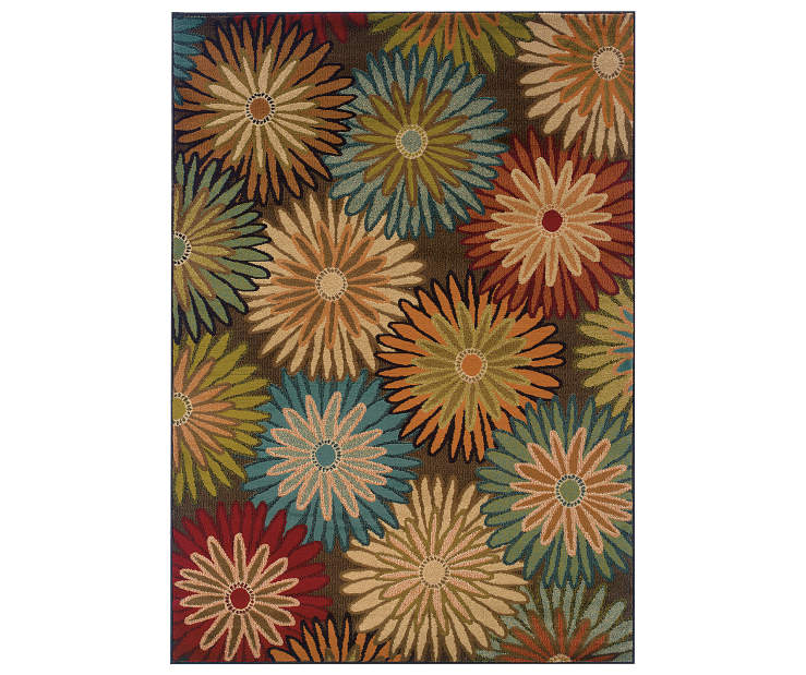 Collins Charcoal Area Rug 5 Feet by 7 Feet 6 Inches Overhead View Silo Image