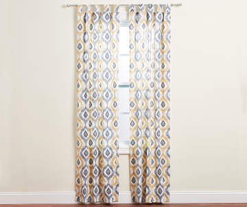 Non Combo Product Selling Price 160 Original List 1600 Living Colors Colorado Yellow Gray Ikat Curtain Panel